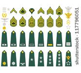 stock-vector-epaulets-military-ranks-and-insignia-illustration-on-white-background-117796051